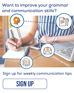 Sign up to receive weekly communication tips